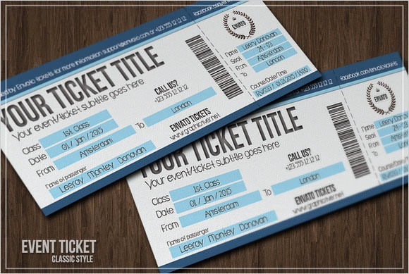 Sample Tickets for events Template Inspirational Sample Blank Ticket Template 7 Documents In Psd Pdf