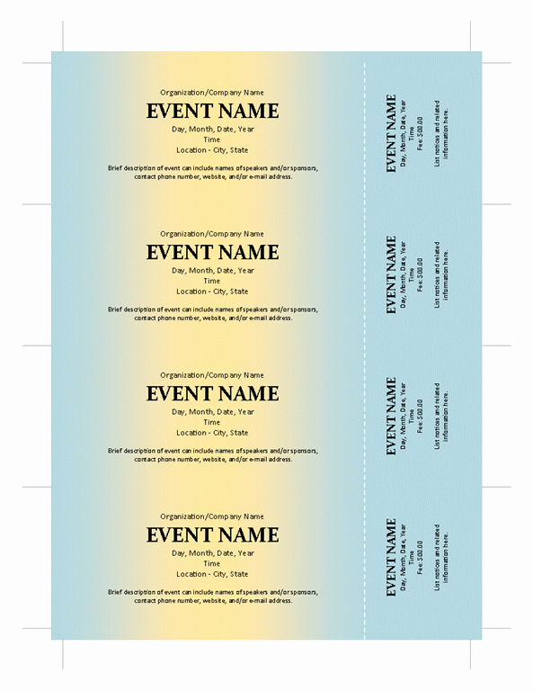 Sample Tickets for events Template Lovely Potential Sample Ticket Template for Any events with
