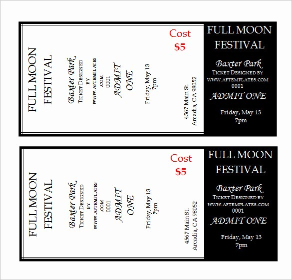 Sample Tickets for events Template Lovely Ticket Template 81 Free Word Excel Pdf Psd Eps