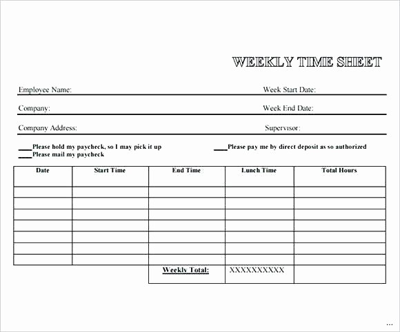 Sample Time Card for Employees Awesome Template for Timesheets – Smartfone