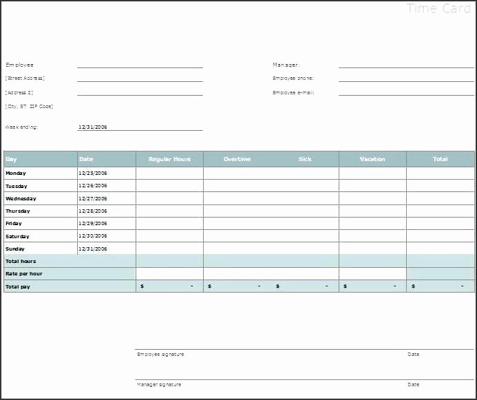 Sample Time Card for Employees Beautiful Bi Weekly Template Fresh Employee Schedule Excel