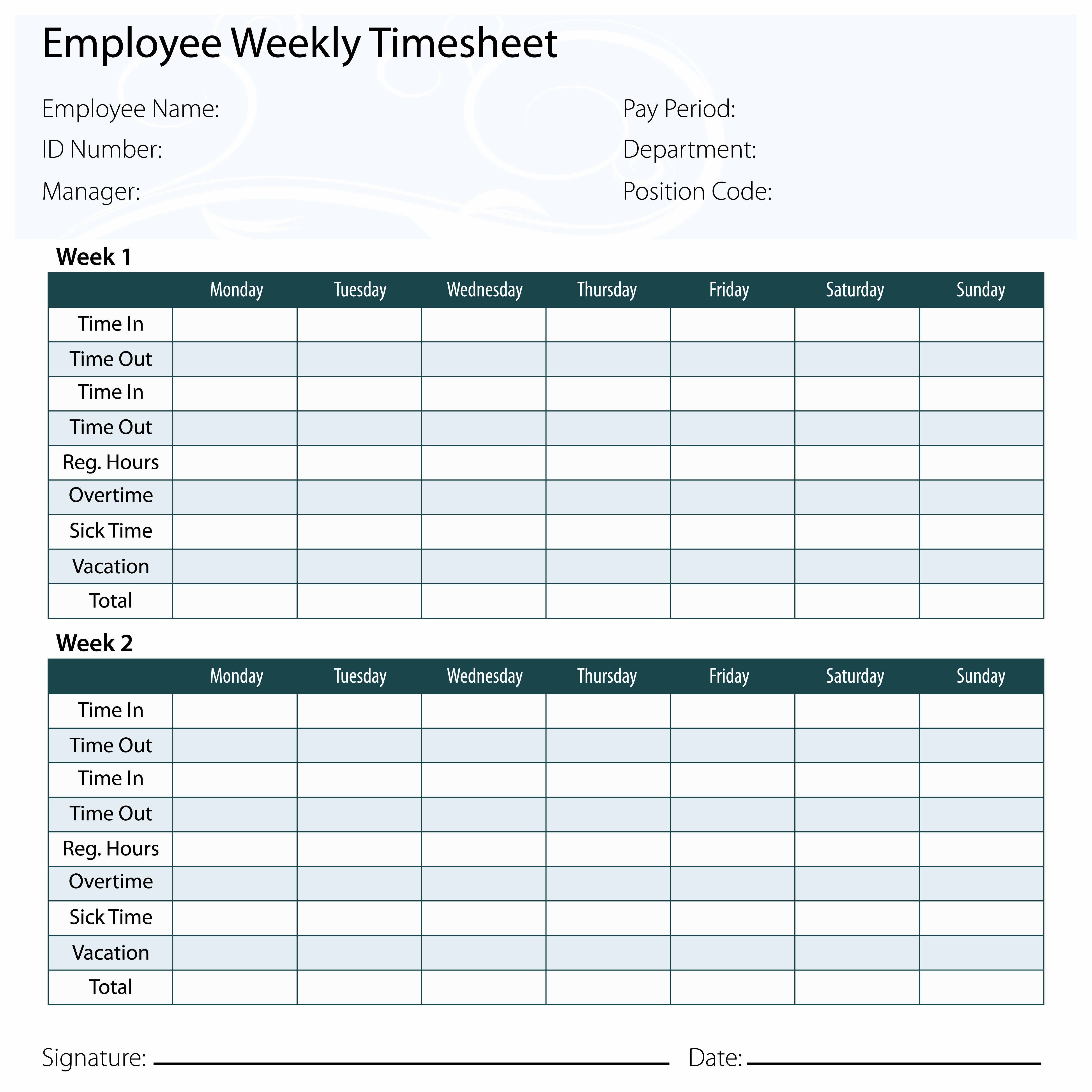 Sample Time Card for Employees Lovely why You Might Want Exempt Employees to Keep Timecards