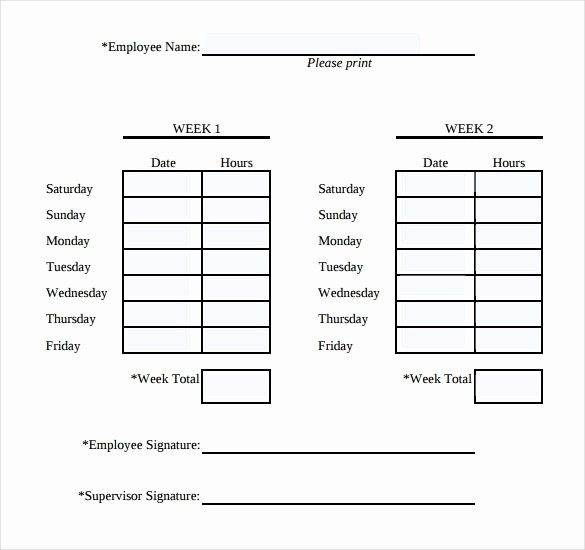 Sample Time Sheets to Print Awesome Simple Weekly Timesheet
