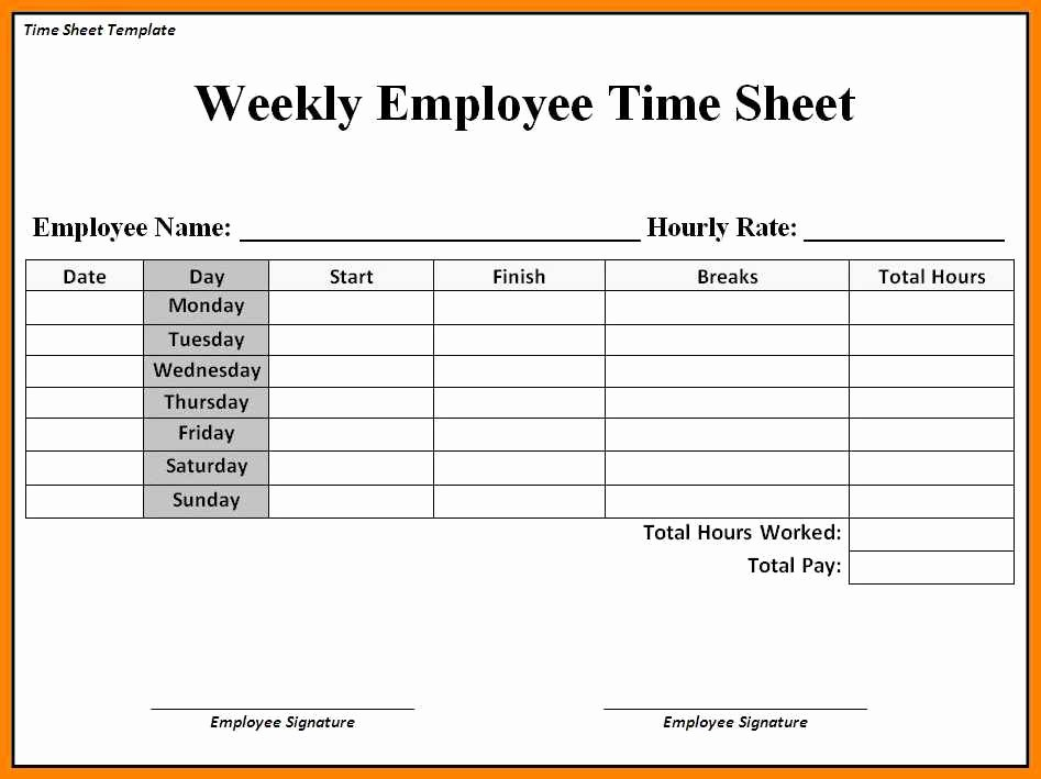 Sample Time Sheets to Print Inspirational New Time Sheets Printable