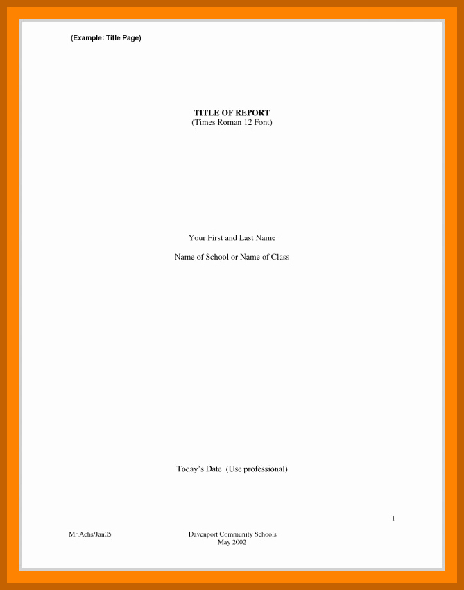 Sample Title Page Apa Style Beautiful 3 4 Cover Page Example Apa