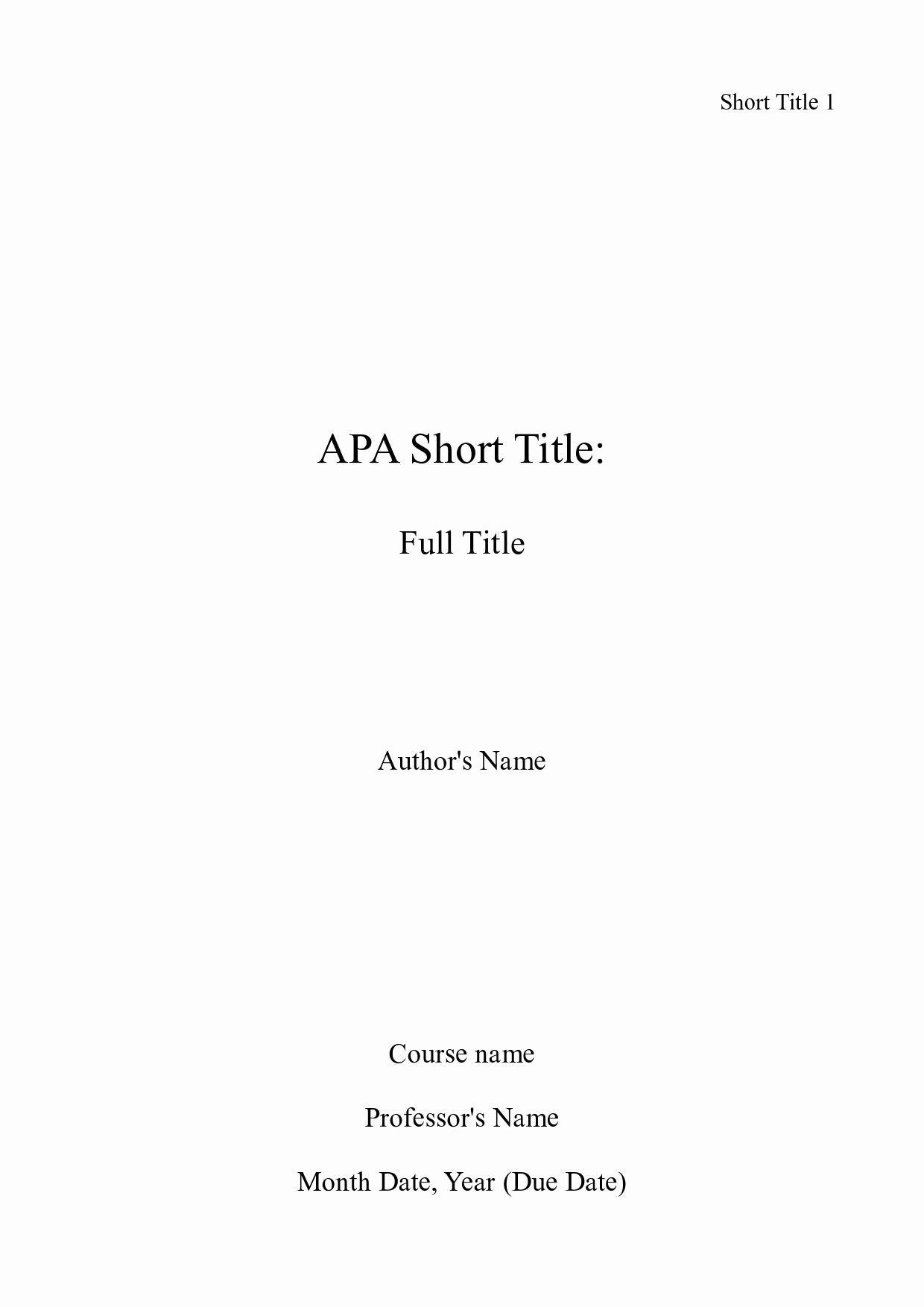 Sample Title Page Apa Style Luxury Picture Of Of An Apa Title Page