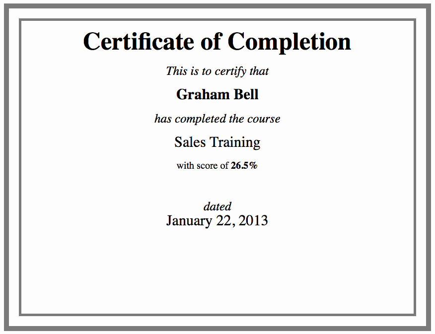 Sample Training Certificate Of Completion Awesome Custom Certificate Template Using HTML