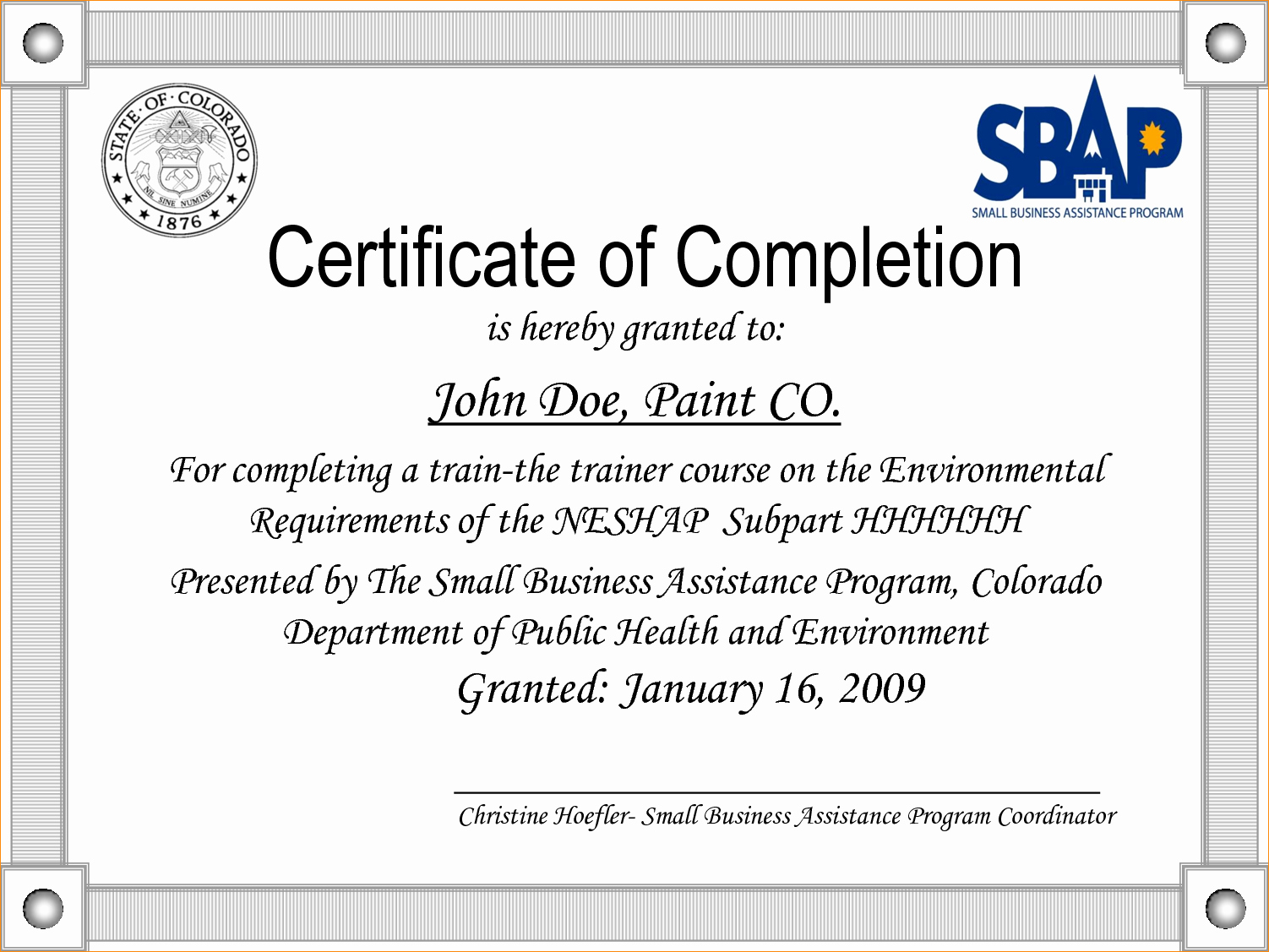 Sample Training Certificate Of Completion Beautiful 33 Certificate Pletion Ojt Template Ojt Narrative