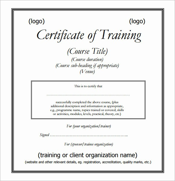 Sample Training Certificate Of Completion Best Of Training Certificates Pdf Sample
