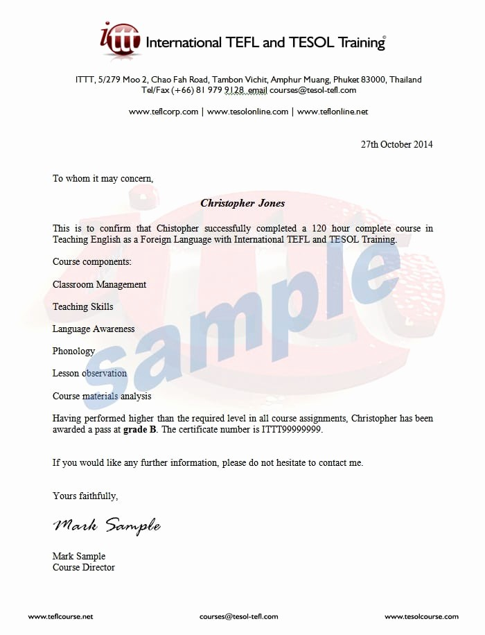 Sample Training Certificate Of Completion Elegant Pletion Letter Sample