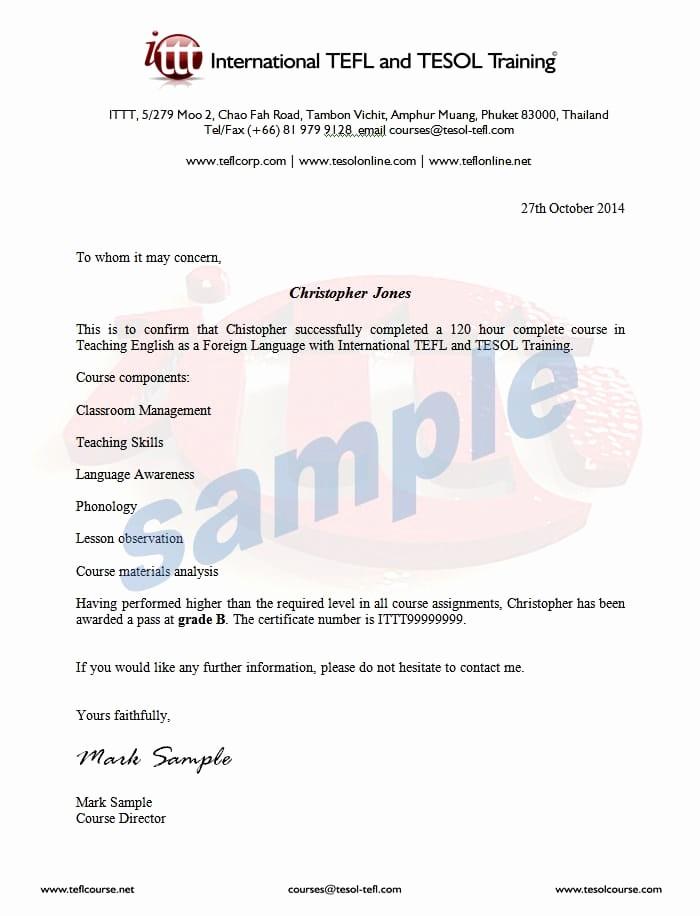 Sample Training Certificate Of Completion Elegant Pletion Letter Sample