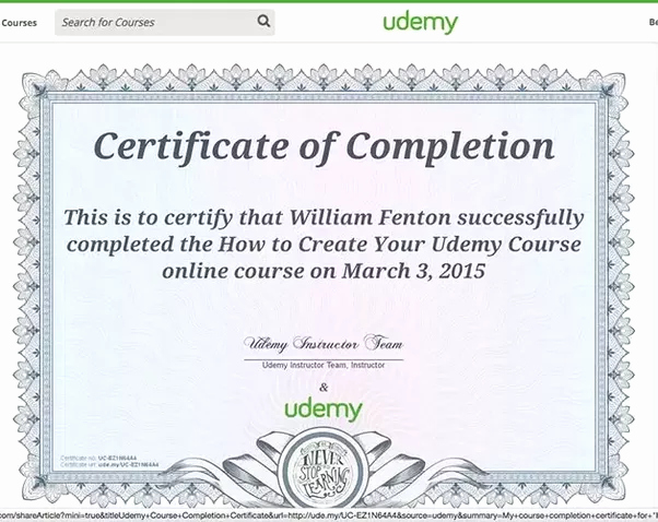 Sample Training Certificate Of Completion Fresh Does Udemy Provide Certificates Upon Pletion Of Any