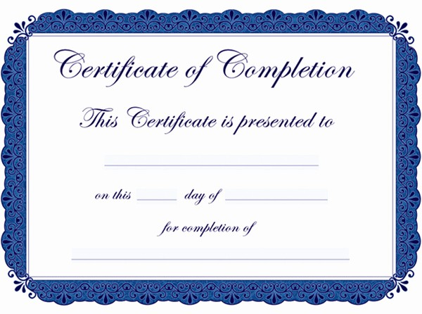 Sample Training Certificate Of Completion Inspirational 30 Acievement Certificate Templates