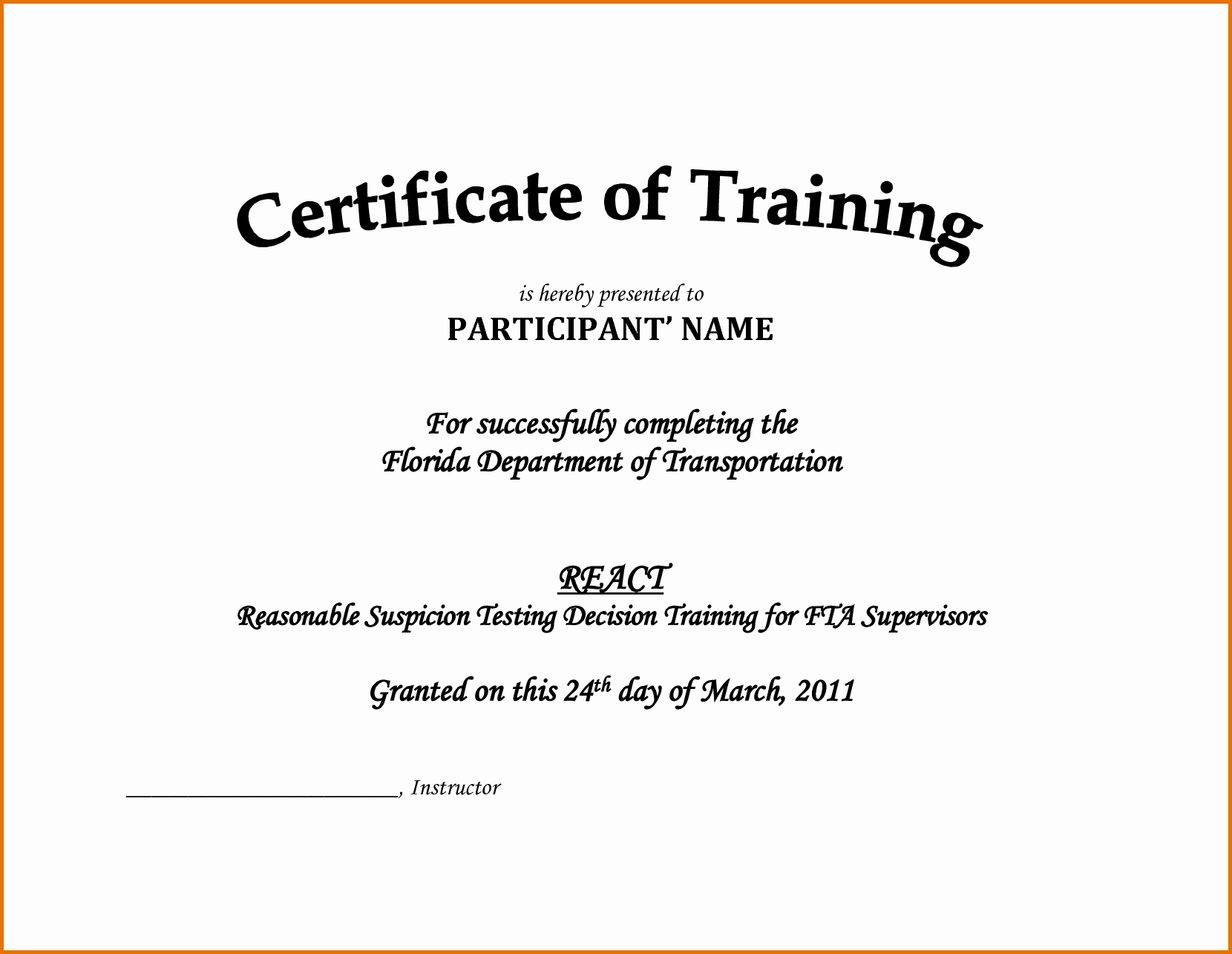 Sample Training Certificate Of Completion Inspirational Downloadable Certificate Training Pletion Template