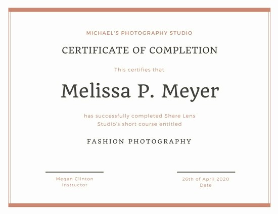 Sample Training Certificate Of Completion Unique Classic Gold Training Certificate Templates by Canva