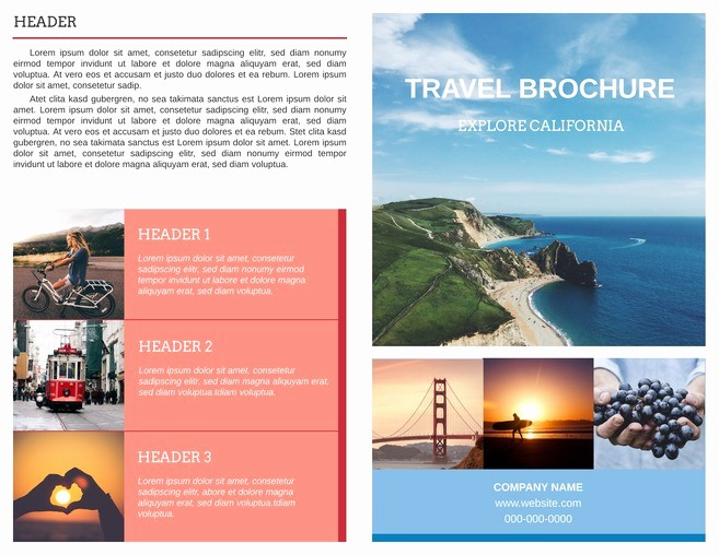 Sample Travel Brochure for Students Best Of Free Bi Fold Brochure Templates & Examples [free Templates]