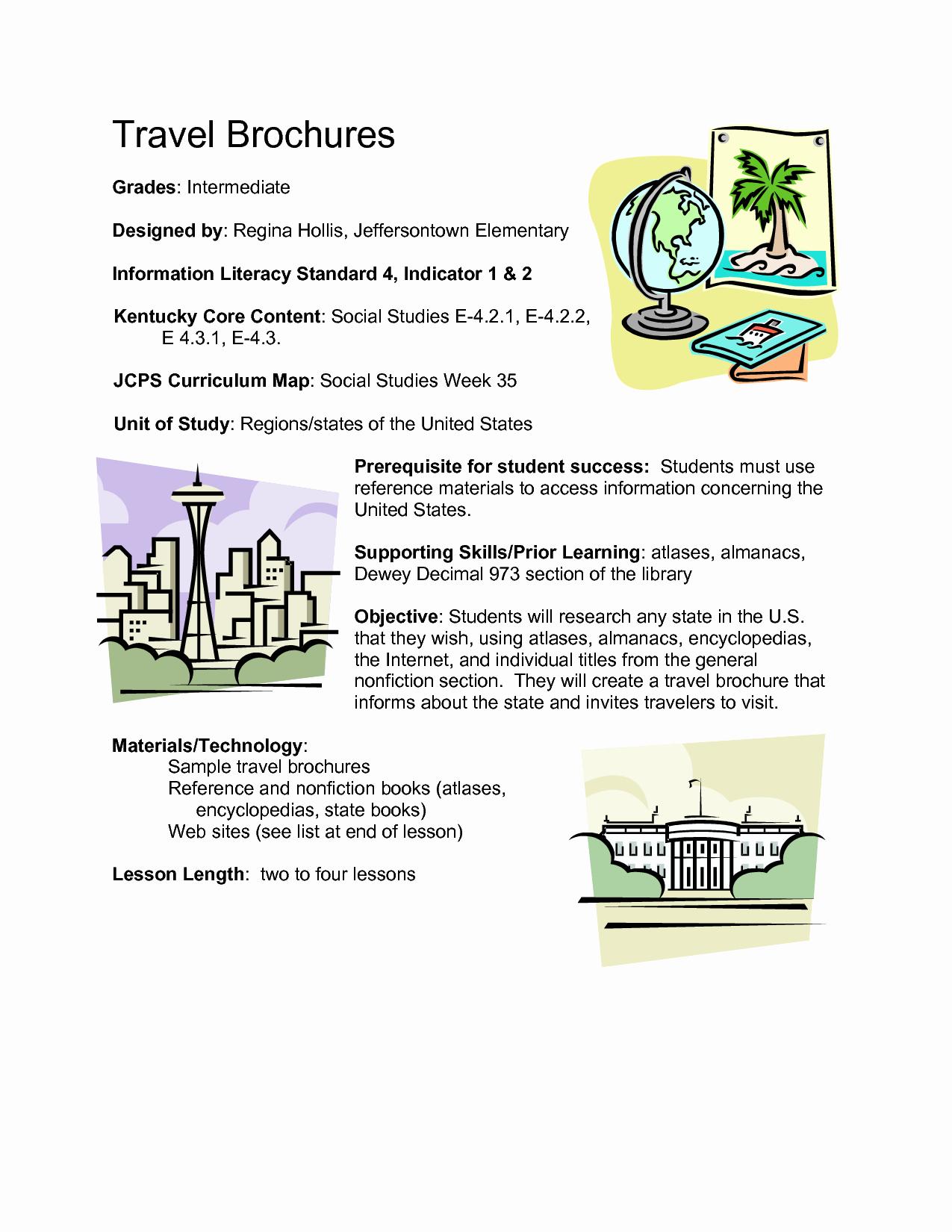 Sample Travel Brochure for Students Elegant 7 Best Of Travel Brochure Pdfs Lake George