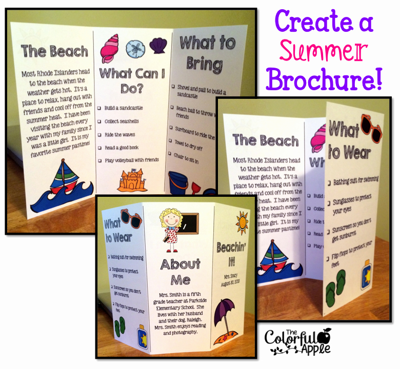 Sample Travel Brochure for Students Fresh Back to School Idea Students Create A Brochure About