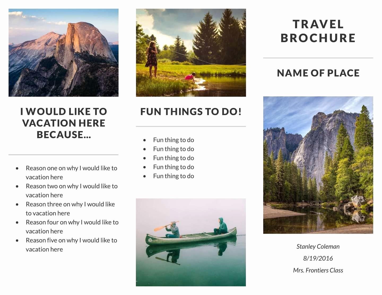 Sample Travel Brochure for Students Fresh Travel Brochure Examples for Students