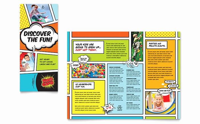 Sample Travel Brochure for Students Lovely Kids Club Brochure Template Design