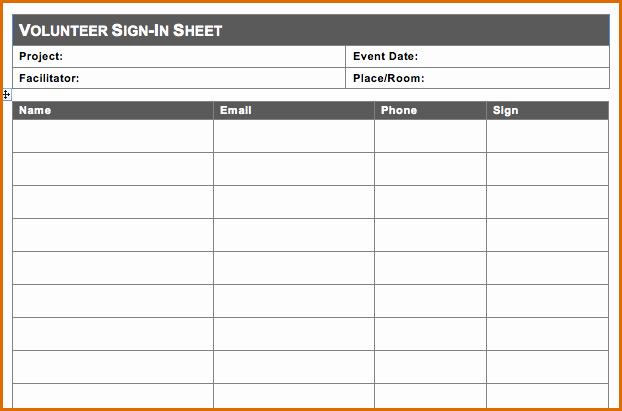 Sample Volunteer Sign Up Sheet Elegant 10 Volunteer Sign Up Sheet Template