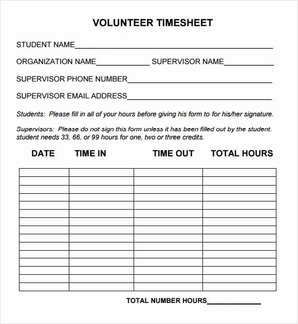Sample Volunteer Sign Up Sheet Inspirational 15 Sample Volunteer Timesheet Templates – Pdf Word