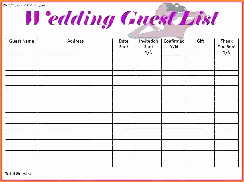 Sample Wedding Guest List Spreadsheet Best Of Wedding Guest List Template Pdf Invitation – Ecosolidario