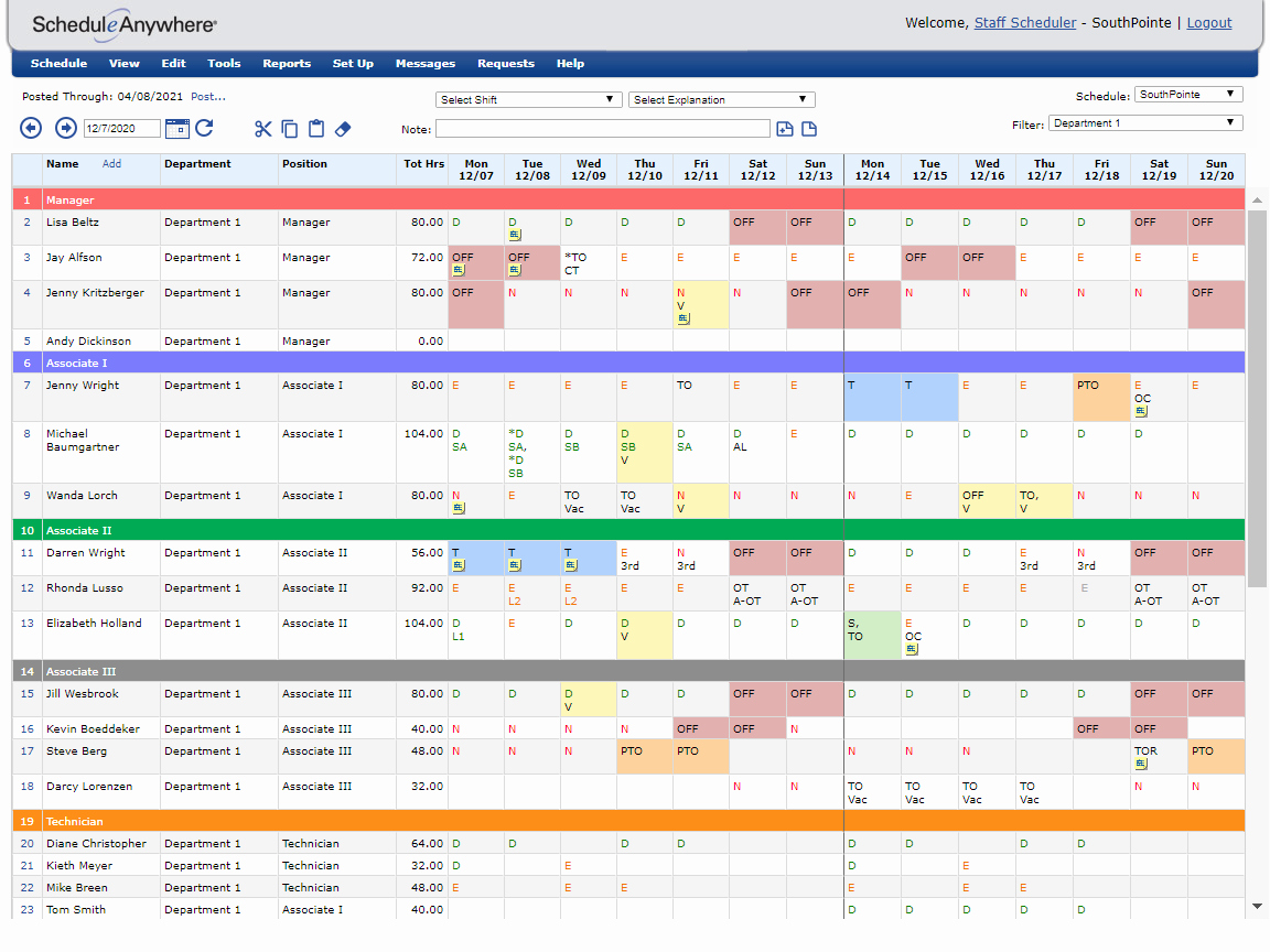 Sample Work Schedule for Employees Fresh Flexible Work Schedule Reporting