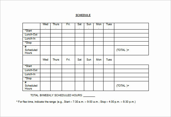 Sample Work Schedule for Employees Luxury Employee Lunch Schedule Template Templates Resume