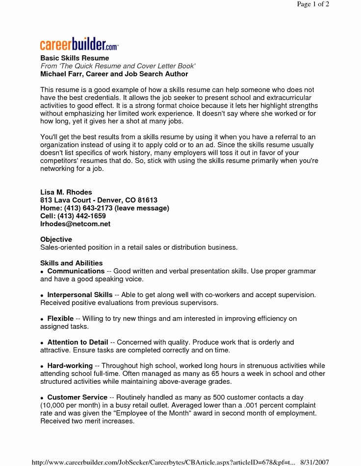 Samples Of A Basic Resume Inspirational 22 Best Images About Basic Resume On Pinterest