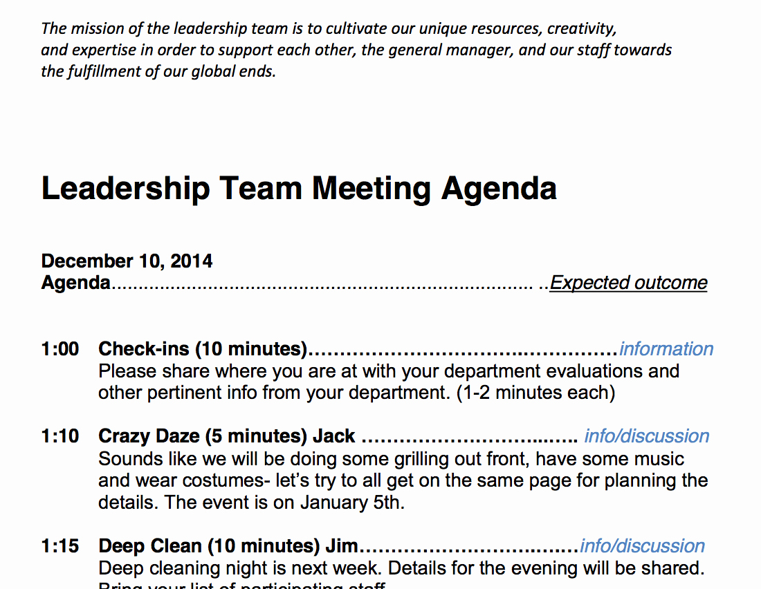 Samples Of Agenda for Meetings Awesome Team Meeting Agenda Sample Cds Cc Library