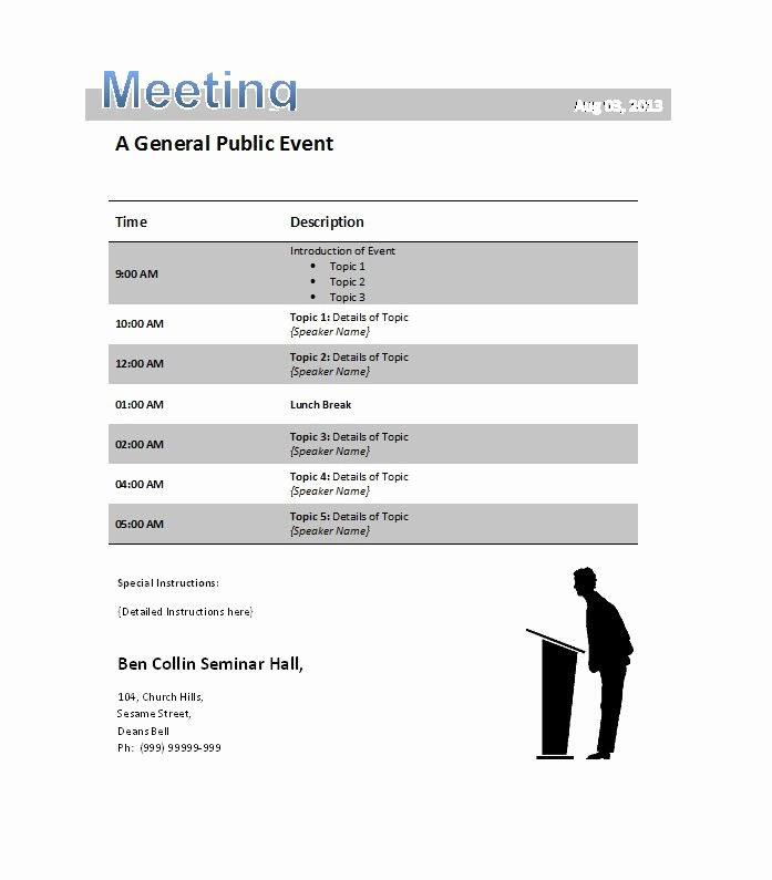 Samples Of Agenda for Meetings Best Of 51 Effective Meeting Agenda Templates Free Template