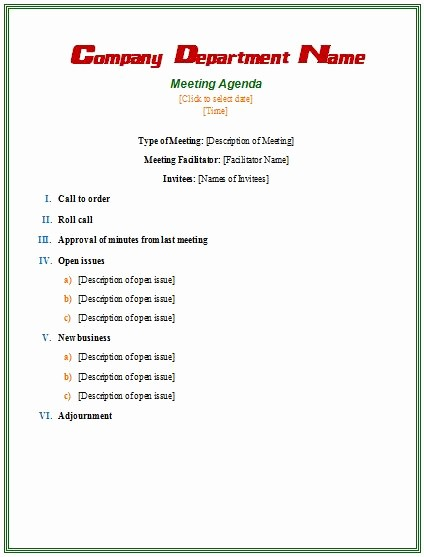 Samples Of Agenda for Meetings Inspirational Best 25 Meeting Agenda Template Ideas On Pinterest