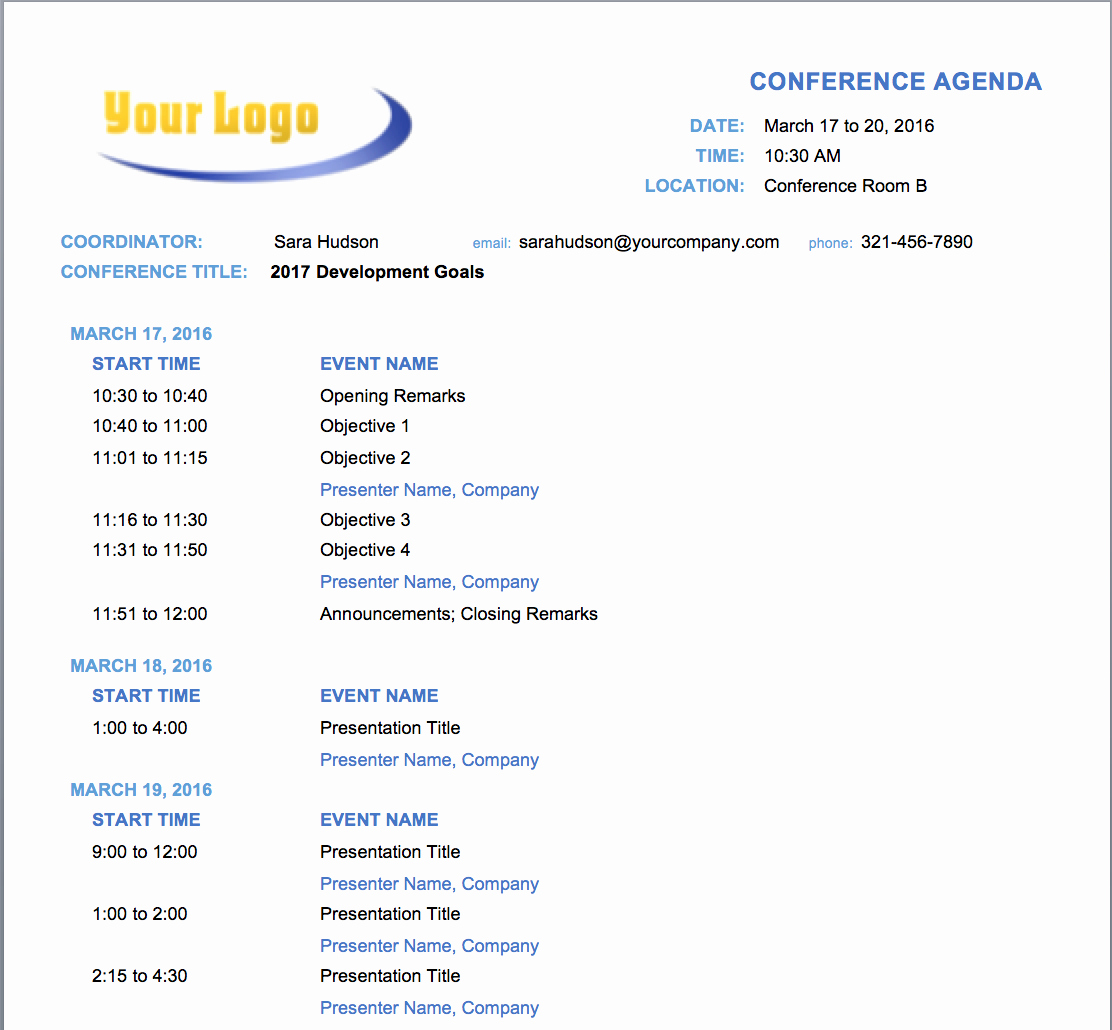 Samples Of Agenda for Meetings Inspirational Free Meeting Agenda Templates Smartsheet
