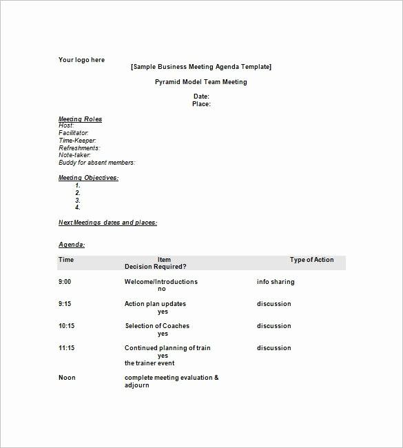Samples Of Agenda for Meetings New 25 Simple Agenda Templates Pdf Doc