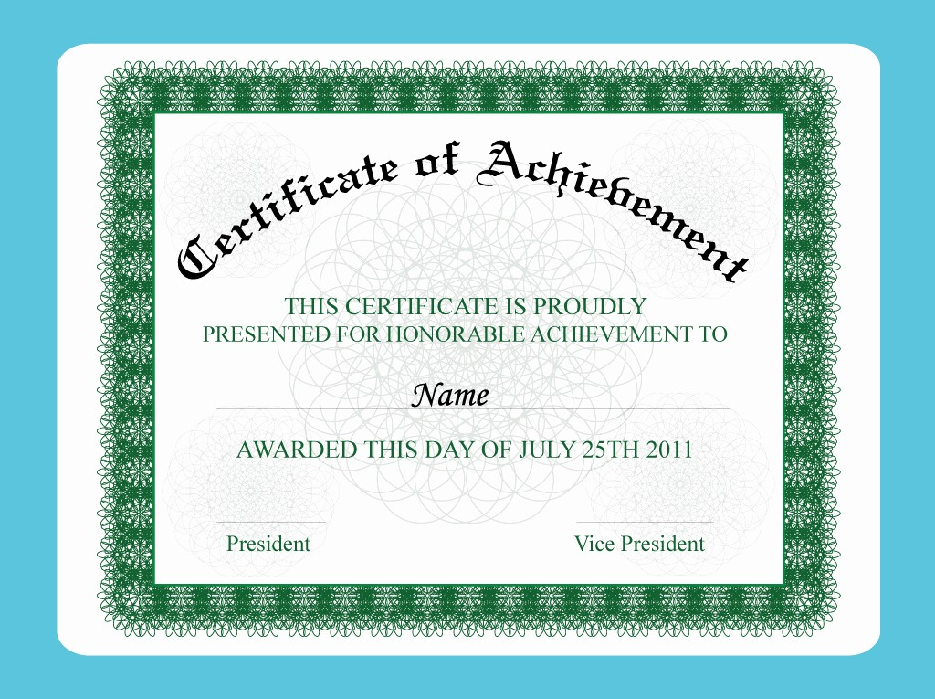 Samples Of Certificate Of Achievement Beautiful Design Certificate Templates
