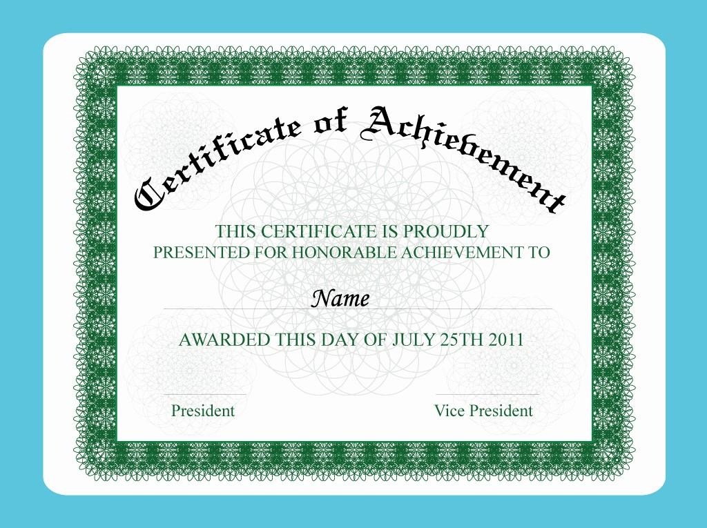 Samples Of Certificate Of Achievement Beautiful Design Certificate Templates