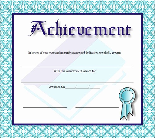 Samples Of Certificate Of Achievement Elegant 30 Certificate Templates