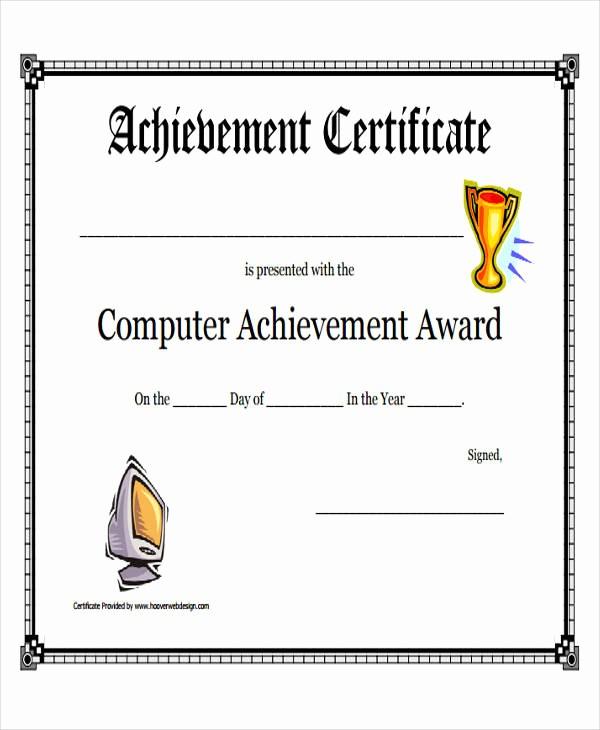 Samples Of Certificate Of Achievement Elegant 32 Printable Award Certificates
