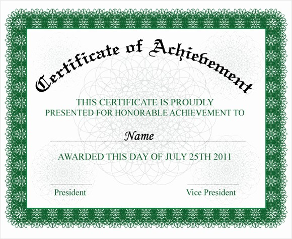 Samples Of Certificate Of Achievement Elegant 9 Certificate Of Achievement Templates