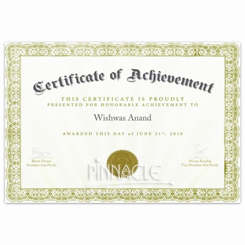 Samples Of Certificate Of Achievement Elegant Certificate Of Achievement Certificate Of Appreciation