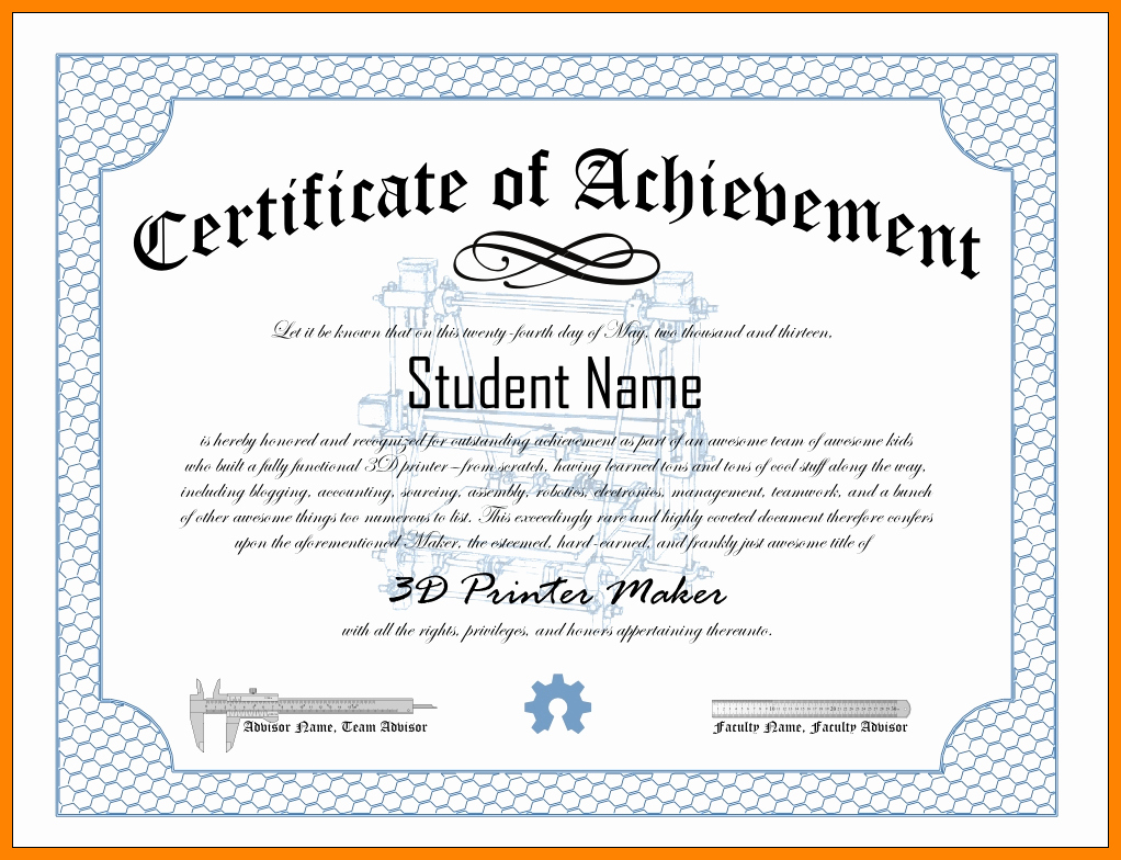 Samples Of Certificate Of Achievement Elegant Certificates Achievement Wording Certificate Award