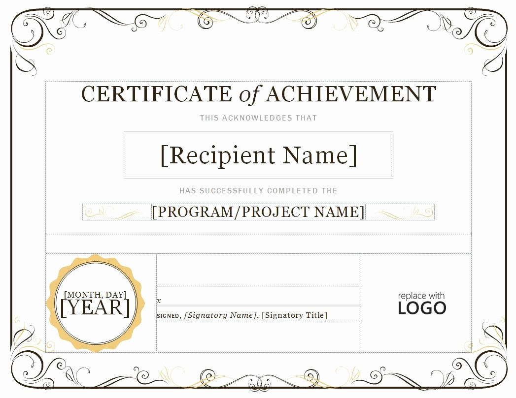 Samples Of Certificate Of Achievement Fresh Certificate Of Achievement Pdf Samples