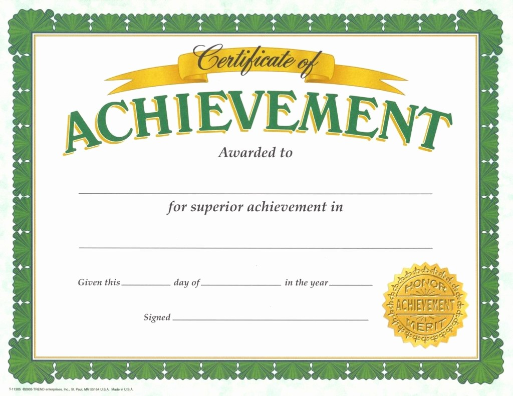Samples Of Certificate Of Achievement Inspirational 10 Pdf Printable School Certificates