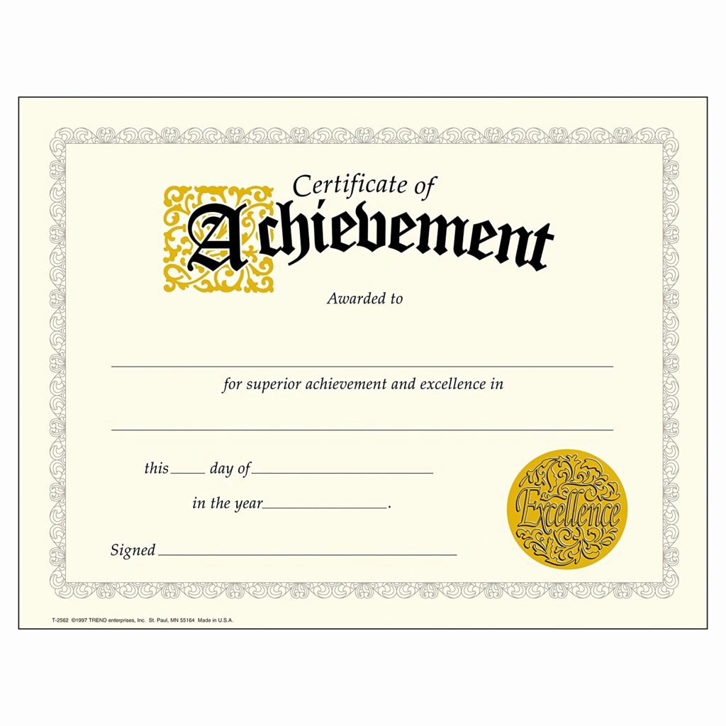 Samples Of Certificate Of Achievement Inspirational Certificate Templates