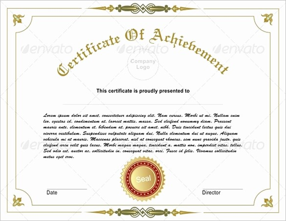 Samples Of Certificate Of Achievement Luxury 36 Fabulous Achievement Certificate Templates Word Psd