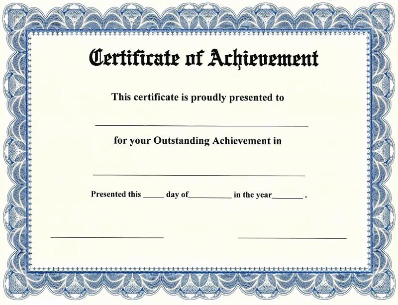 Samples Of Certificate Of Achievement Unique Certificate Of Achievement Templates