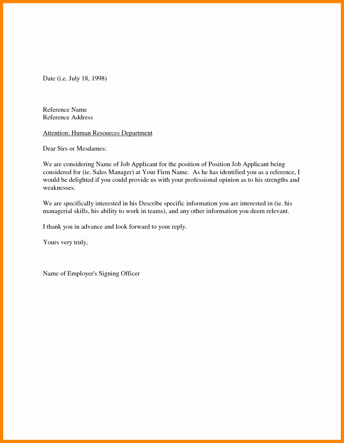 Samples Of Employee Reference Letters New Referral Letter Sample for Employment Cover Letter