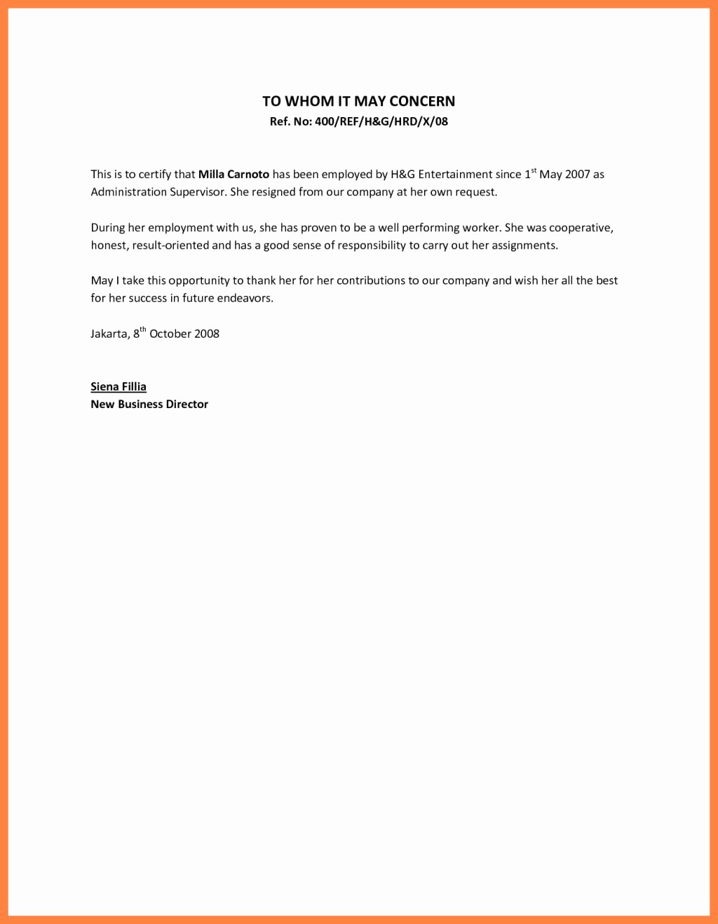 Samples Of Employee Reference Letters Unique Nice Employee Reference Letter Sample – Letter format Writing