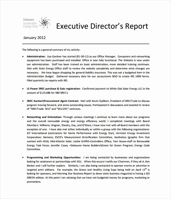 Samples Of Executive Summary Report Best Of Executive Report Template 13 Free Sample Example